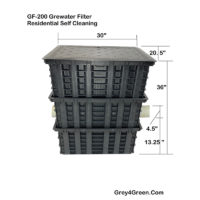 GF 200 Greywater Filter Self Cleaning Residential