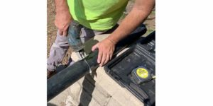 How To Cut the Greywater Aquifer Pipe