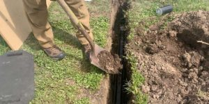 How to Bury The Greywater Aquifer Pipe